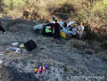 ¡Familia se salió de la carretera cerca de San Bartolo! - Colectivo Pericu