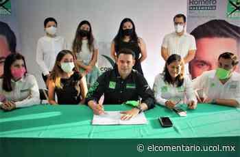 Reitera Romero Coello su compromiso de apoyar a la juventud - El Comentario