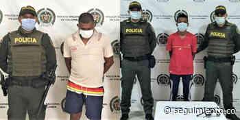 Capturan a dos hombres en El Banco por porte ilegal de armas y hurto - Seguimiento.co