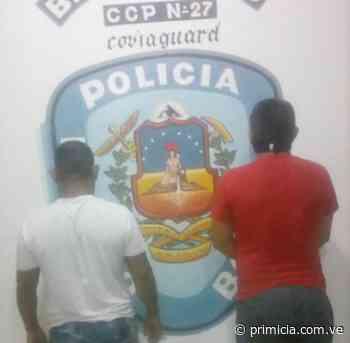 Dos hombres arrestados por amenaza y extorsión a comerciantes de Guasipati - Diario Primicia - primicia.com.ve