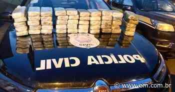 Operação apreende 52kg de pasta base de cocaína que iriam para Ituiutaba - Estado de Minas