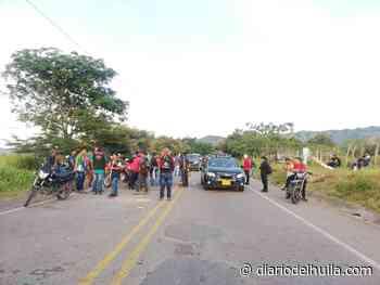 Minga da vía en Hobo y pide que no se cobre peaje por la Ruta 45 - Diario del Huila