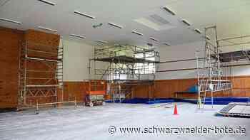 Arbeiten in Geräteturnhalle - Umfangreiche Sanierungsmaßnahmen in Schiltach - Schwarzwälder Bote