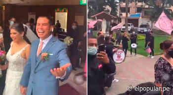 ¡A lo grande! Hincha de Sport Boys se casa y barra rosada va a celebrarlo a la salida de la iglesia [VIDEO] - ElPopular.pe