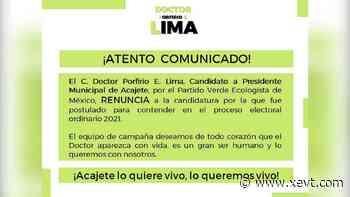 Reportan como desaparecido a candidato a la alcaldía de Acajete, Puebla - XeVT