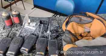 Policia Militar apreende granada e rádios comunicadores, em Vassouras - Destaque Popular