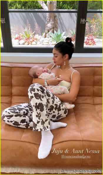 Ashley Tisdale Shares Cutest Photos of Daughter Jupiter with Vanessa Hudgens!   vanessa hudgens met ashley tisdale daughter 01 - Photo - Just Jared Jr.