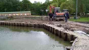 Nouvelle intervention sur les berges des étangs de l'Émolière à Libercourt - La Voix du Nord