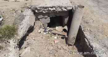 Advierten riesgo por boquete en calle de Pachuca que ocasiona desabasto de agua - Periódico AM