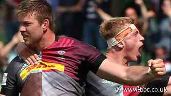 Premiership: Harlequins 44-33 Bath - hosts win 10-try thriller to book play-off spot