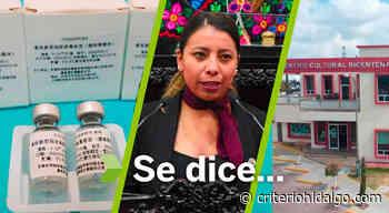 Se dice… que Jazmín Calva, vacuna CanSino y centro cultural de Actopan - Criterio Hidalgo