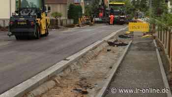 Straßenbau in Herzberg: Erster Abschnitt der Karl-Liebknecht-Straße fast fertig - Lausitzer Rundschau