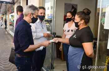 Em visita a Bom Despacho e Martinho Campos Romeu Zema distribui 300 máscaras para prevenção à Covid-19 - G1