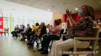 Harnes : à l'EHPAD, résidents et familles se retrouvent en chansons grâce à l'Aéronef - La Voix du Nord