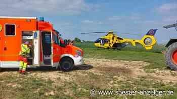 Geseke: Jugendlicher wird von Traktor überfahren - Rettungshubschrauber im Einsatz - soester-anzeiger.de
