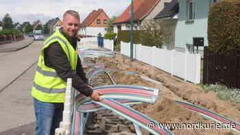 Glasfaser-Ausbau in Pasewalk nimmt kräftig Fahrt auf - Nordkurier