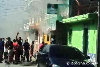 Se incendia mini súper en Apastepeque, San Vicente - Diario La Página