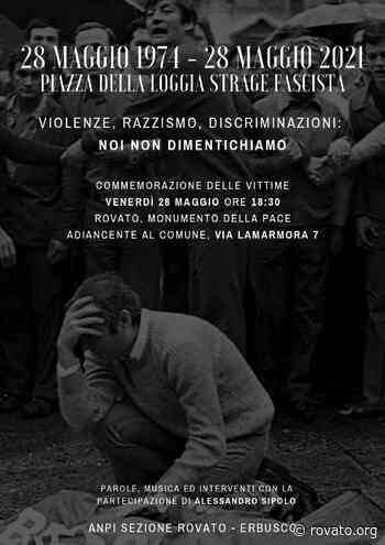 28 Maggio: presidio a Rovato 47 anni dopo Piazza Loggia - Rovato.org