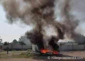 Incendio de llantas en predio de Mixquiahuala moviliza al cuerpo de emergencias - La Silla Rota