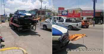 Choca patrulla de Mixquiahuala; transportaba vacunas vs COVID - Periódico AM