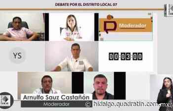 Propuestas y reproches en debate de candidatos por Mixquiahuala - Quadratín Hidalgo