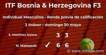 El tenista Samuel Martinez Arjona cae eliminado en la ronda previa de calificación del torneo de Sarajevo - infobae