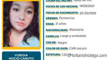 Se busca a Yuridia Mucio, de 21 años; se extravió en Tepeji del Río - Criterio Hidalgo