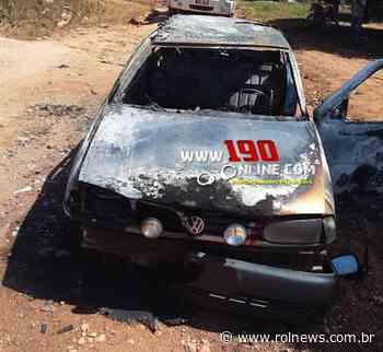 ALTA FLORESTA: Carro pega fogo e fica totalmente destruído - ROLNEWS