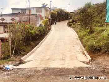 En Anserma hay un nuevo tramo de placas huella - La Patria.com