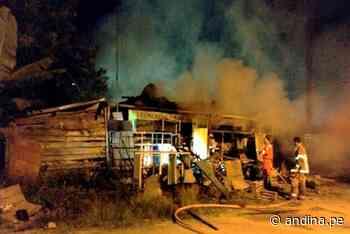 Pasco: incendio en depósito de chatarras deja un muerto en Oxapampa - Agencia Andina
