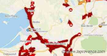 A7 : plus de 10 km de bouchon entre Rognac et l'entrée de Marseille - La Provence