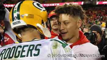 Patrick Mahomes would welcome the challenge of Aaron Rodgers in the AFC West