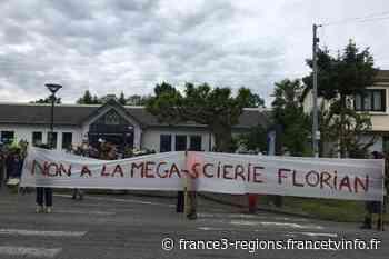 """Hautes-Pyrénées : le collectif """"Touche pas à ma forêt"""" manifeste à Lannemezan contre la méga-scierie italienne - France 3 Régions"""