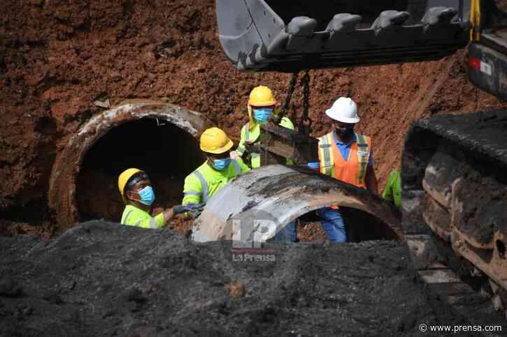 Trabajos de reparación de la vía colapsada en Arraiján reportan un 75% de avance - La Prensa Panamá