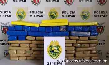 PM prende traficantes com 57kg de maconha em Realeza - Diário do Sudoeste