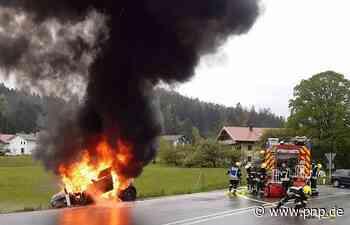 Bei A8-Ausfahrt: Mini brennt komplett aus - Passauer Neue Presse