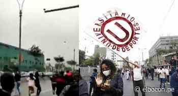 Barristas de Universitario y Alianza Lima se enfrentaron en avenida Abancay frente al Congreso [VIDEO] - El Bocón