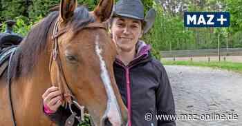 Pferdetrainerin Isabelle Gessinger aus Rathenow trainiert in Steckelsdorf - Märkische Allgemeine Zeitung
