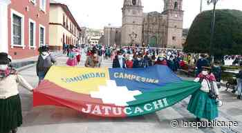 Marchan para reanudar límites fronterizos entre Puno y Moquegua - LaRepública.pe