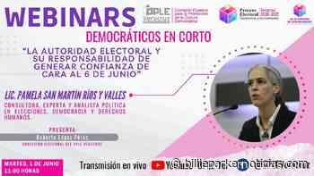Martes de #Webinars democráticos en corto @ople_Ver Invitada: Pamela San Martin - Billie Parker Noticias