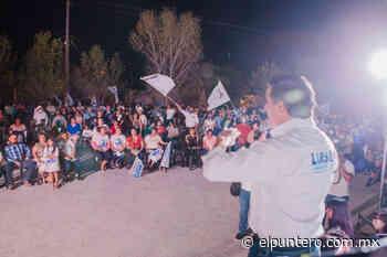 Cierra campaña Luis Aguilar junto a Aidé López en Las Varas - El puntero