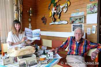 Letterschilder Jef (91) is idool van hele Instagram-generati... (Merksem) - Het Nieuwsblad