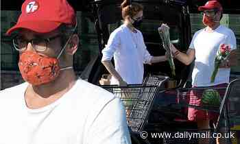 Jon Hamm and girlfriend Anna Osceola step out for grocery store run over Memorial Day weekend in LA - Daily Mail