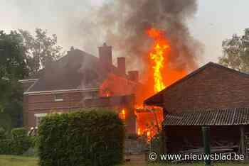 Zware brandschade in huis aan 't Wit Paard in Zutendaal
