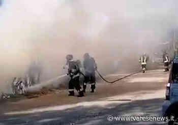 Incendio alla Canottieri di Ispra, Vigili del Fuoco in azione - - varesenews.it