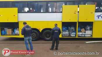 Receita Federal retém dois ônibus em Santa Terezinha de Itaipu - Portal Costa Oeste