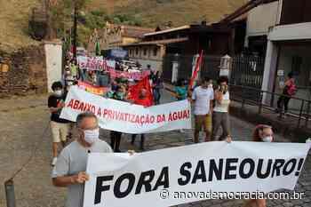 Vigoroso ato contra a privatização da água em Ouro Preto (MG) - A Nova Democracia