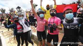 Así celebró Zipaquirá el triunfo de Egan Bernal en el Giro 2021 - El Tiempo