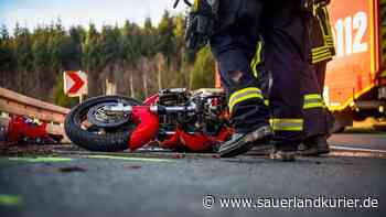 Unfall bei Westernbödefeld: Motorrad überschlägt sich mehrfach - Fahrer schwer verletzt - sauerlandkurier.de