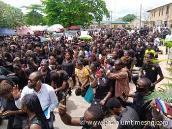 Women march in Uyo, demand justice for slain Akwa Ibom job-seeker - Premium Times - Premium Times
